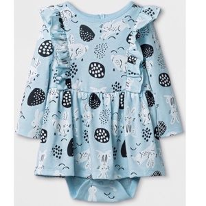 Cat & Jack Blue Bunny Cotton Dress